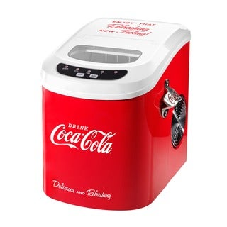 Nostalgia ICE100COKE Coca-Cola 26 lb. Automatic Ice Cube Maker
