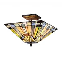 Copper Grove Cardareva Tiffany style Mission Design Multicolor 2-light Flush Mount