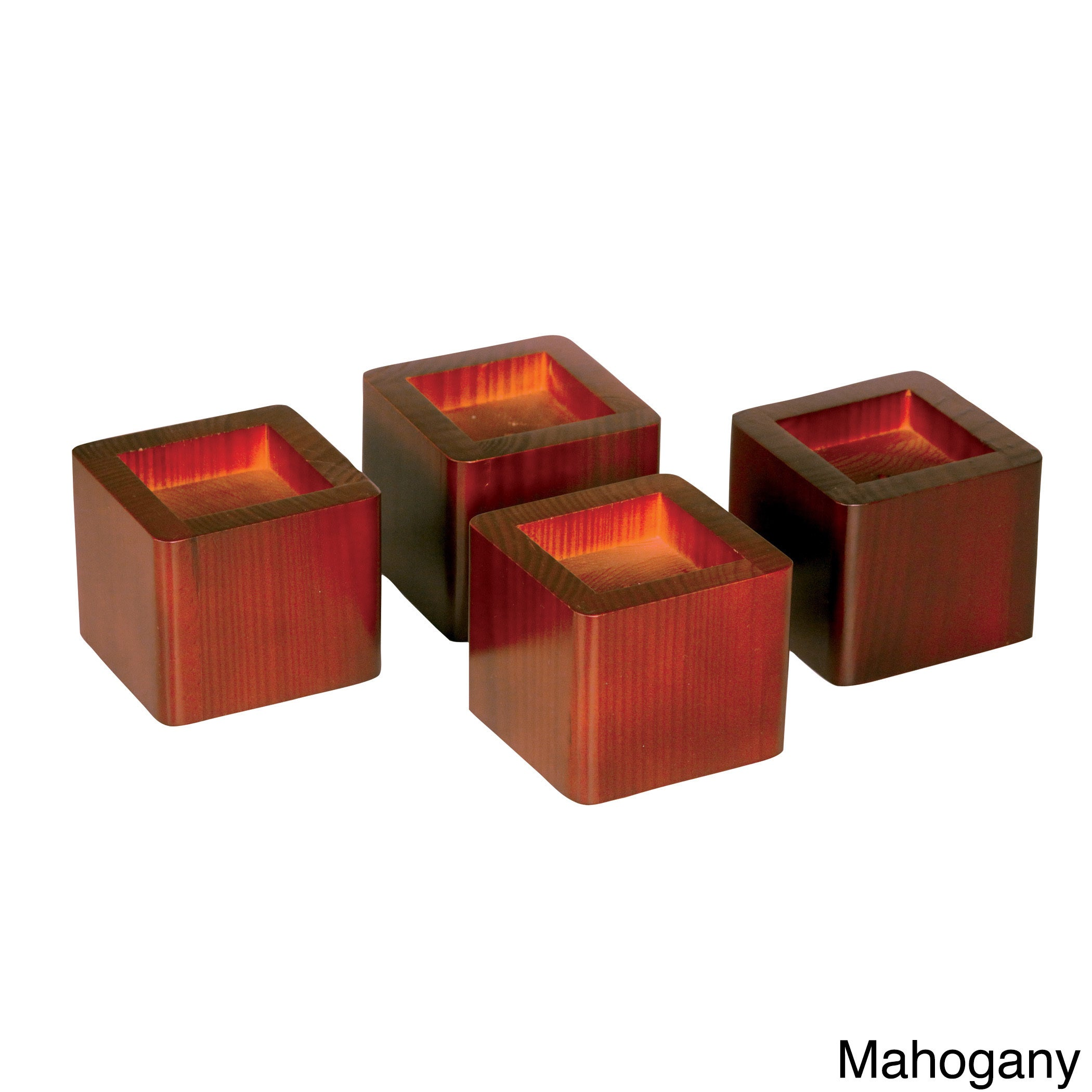 Richards Furniture Bed Risers Table Set of 4 (Mahogany), ...