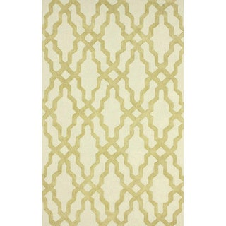 nuLOOM Hand-hooked Gold Wool Rug (7'6 x 9'6)