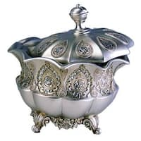 Traditional Royal Silver Metallic Decorative Jewelry Box