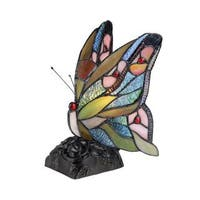 Chloe Tiffany Style Butterfly Nightlight/Accent Lamp
