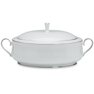 Lenox 'Hannah Platinum' 12-inch Covered Vegetable Bowl