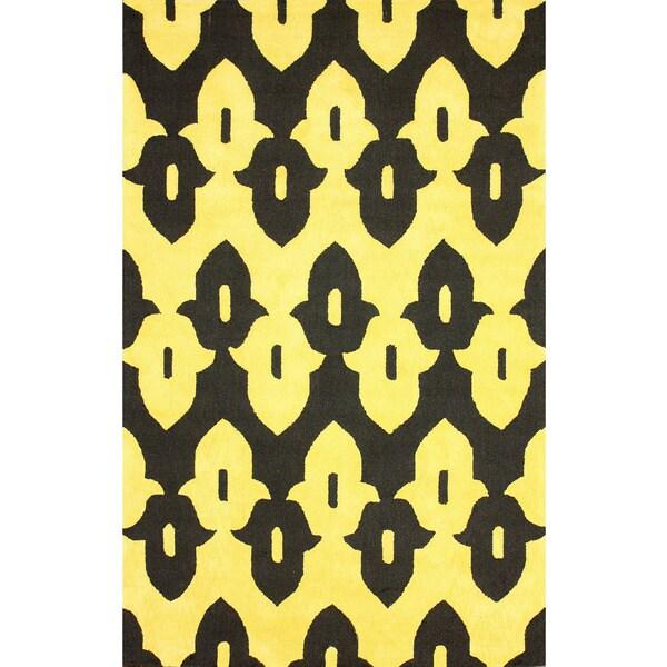 nuLOOM Hand-hooked Black Wool Area Rug (5' x 8') - 5' x 8'