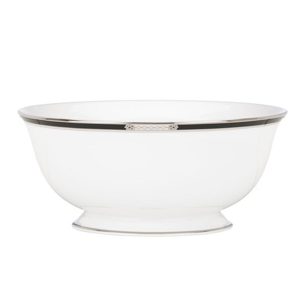 Lenox 'Hancock Platinum White' 8.5-inch Serving Bowl