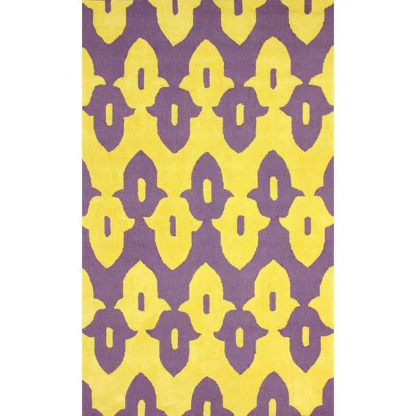 nuLoom Hand-Hooked Purple Wool Rug - 5' x 8'