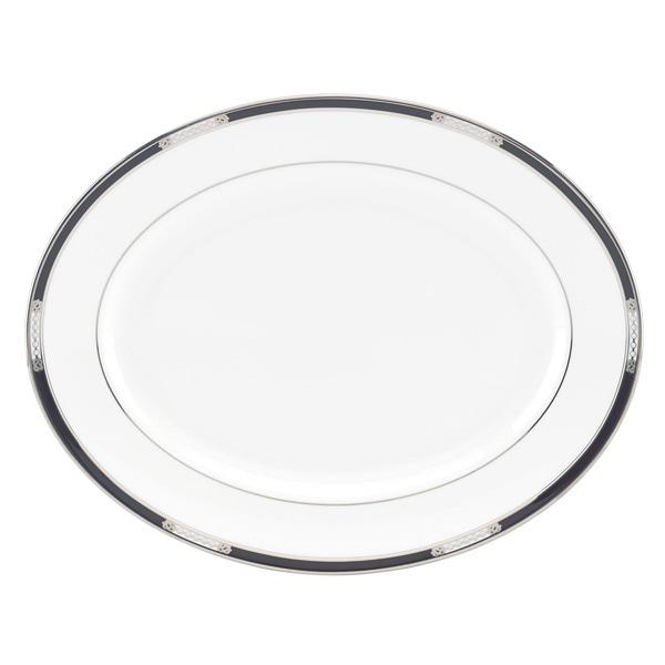 Lenox 'Hancock Platinum White' 13-inch Oval Platter