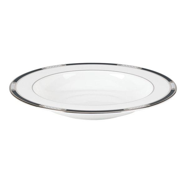 Lenox 'Hancock Platinum White' 9-inch Pasta/ Rim Soup Bowl