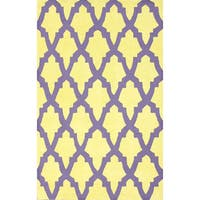 nuLoom Hand-hooked Purple/ Yellow Wool-blend Rug (5' x 8') - 5' x 8'