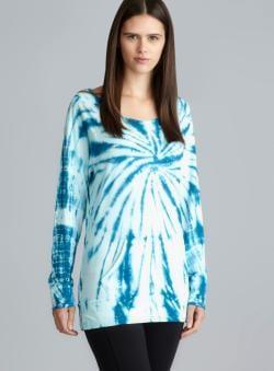 Balance Blue Tie Dye Raglan Sleeve Top