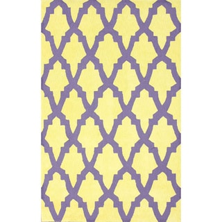 nuLOOM Hand-Hooked Purple Wool Area Rug (3'6 x 5'6)