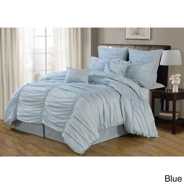 Lacozee Classical Ruched 8-piece Comforter Set