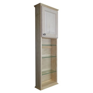 Ashley Series 48x7.25-inch Unfinished Wood On-the-Wall Cabinet
