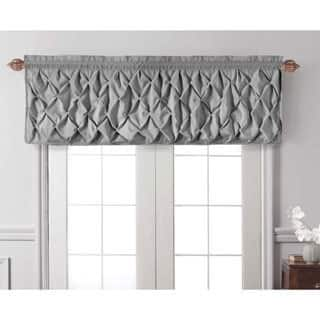 black piece available blacksolidcoloredswagwindowvalance swag center p colored quick window curtains solid view valance optional