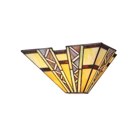 Copper Grove Shoshone Tiffany Style Mission Design 1-light Wall Sconce