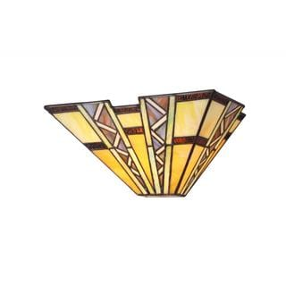 Link to Copper Grove Shoshone Tiffany Style Mission Design 1-light Wall Sconce Similar Items in Sconces