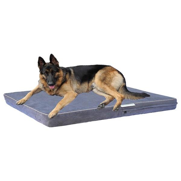Go Pet Club Charcoal Grey Memory Foam Pet Bed