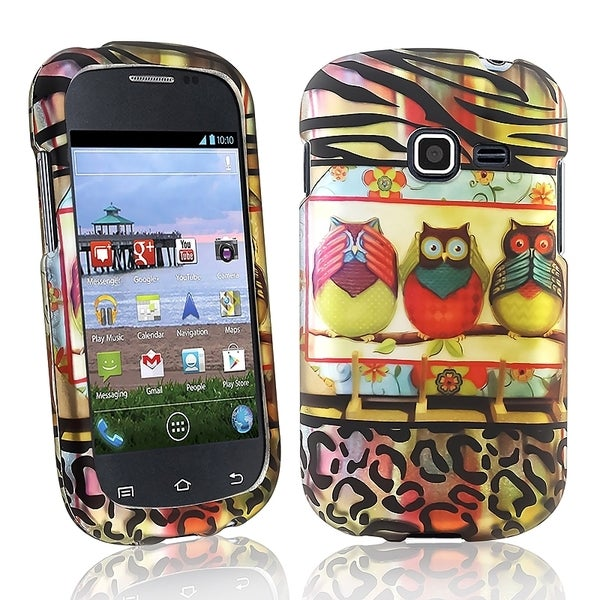 BasAcc 3 Owls Rubber Coated Case for Samsung© Galaxy Centura S738C