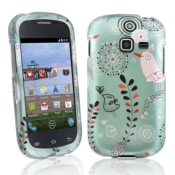 INSTEN Dandelion Rubber Coated Phone Case Cover for Samsung Galaxy Centura S738C