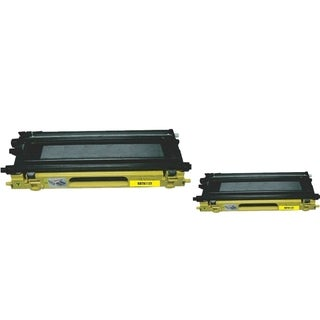 INSTEN 2-ink Yellow Cartridge Set for Brother TN115 Y