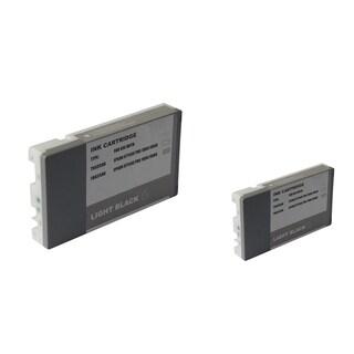 INSTEN 2-ink Light Black Cartridge Set for Epson T6037LBk