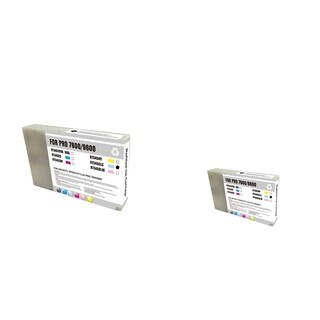 INSTEN Epson T545500 LC Light Cyan 2-ink Cyan Cartridge Set (Remanufactured)