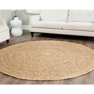 Safavieh Casual Natural Fiber Hand-loomed Natural Jute Rug (9' Round)