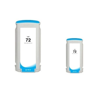 INSTEN Cyan Ink Cartridge for HP 72 (Remanufactured) (Pack of 2)