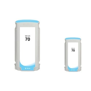 Insten Light cyan Remanufactured Ink Cartridge Replacement for HP C9390A/ 70