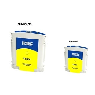 INSTEN Yellow Ink Cartridge for HP 88 (Remanufactured) (Pack of 2)