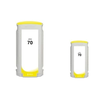 INSTEN Yellow Pigment Ink Cartridge for HP 70 (Remanufactured) (Pack of 2)