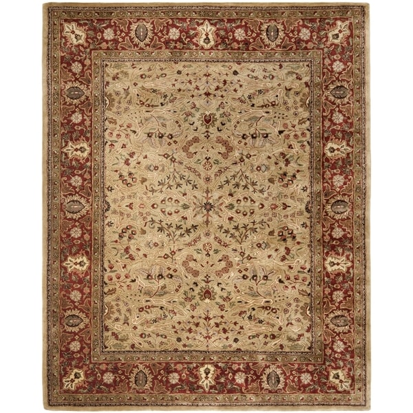 Safavieh Handmade Persian Legend Gold/ Rust New Zealand Wool Rug - 8'3 x 11'