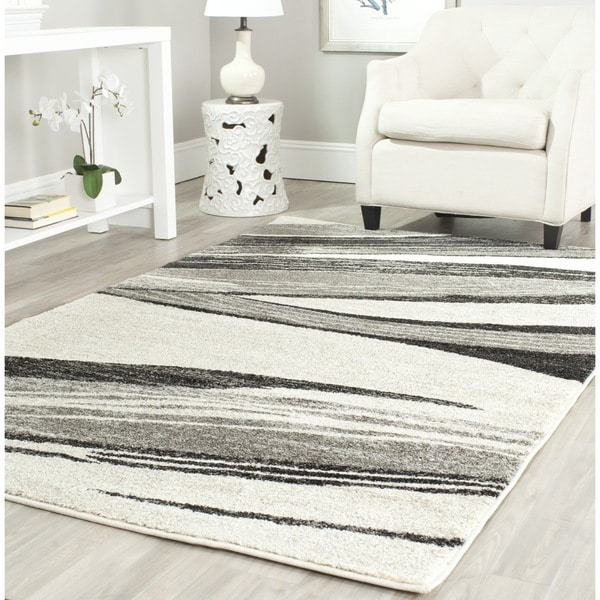 Safavieh Retro Modern Chic Abstract Light Grey/ Ivory Rug - 8'9 x 12'