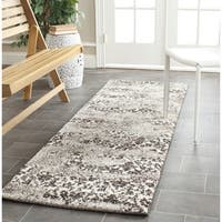 Safavieh Retro Modern Abstract Beige/ Light Grey Distressed Rug - 2'3 x 11'