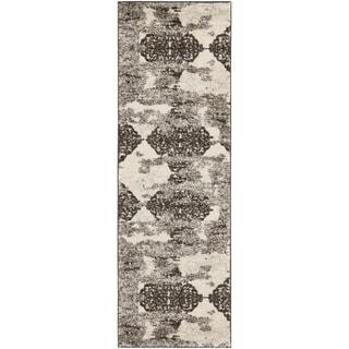 Safavieh Retro Modern Abstract Cream/ Brown Distressed Rug (2'3 x 11')