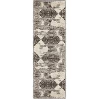 Safavieh Retro Modern Abstract Cream/ Brown Distressed Rug (2'3 x 9') - 2'3 x 9'