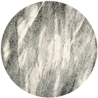 Safavieh Retro Mid-Century Modern Abstract Grey/ Ivory Rug (6' Round)