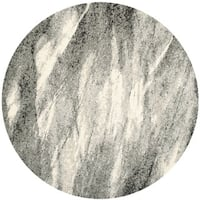 Safavieh Retro Mid-Century Modern Abstract Grey/ Ivory Rug - 6' Round