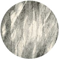 Safavieh Retro Mid-Century Modern Abstract Grey/ Ivory Rug - 8' x 8' Round