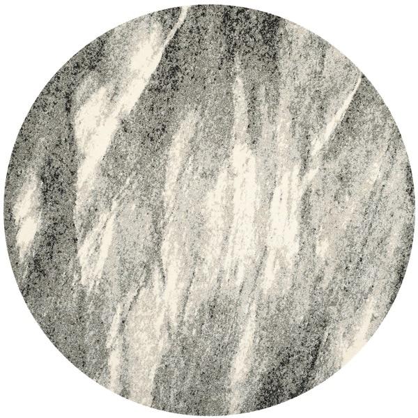 Safavieh Retro Mid Century Modern Abstract Grey/ Ivory Rug (8u0026#x27;