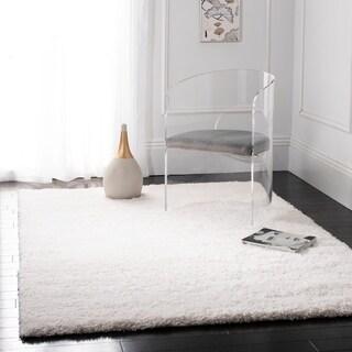 Safavieh California Cozy Solid White Shag Rug (4' Square)