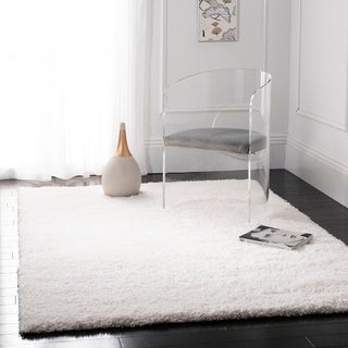 Safavieh California Cozy Plush Milky White Shag Rug - 4' Square