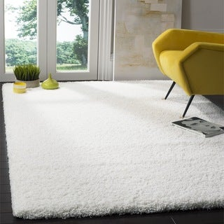 Safavieh California Cozy Plush Milky White Shag Rug (8'6 Square)