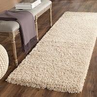 Safavieh California Cozy Plush Beige Shag Rug - 2'3 x 15'