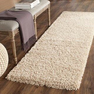 Safavieh California Cozy Plush Beige Shag Rug (2'3 x 5')