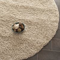 Safavieh California Cozy Plush Beige Shag Rug - 8'6 Round