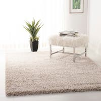 Safavieh California Cozy Plush Beige Shag Rug (8'6 Square) - 8'6 x 8'6
