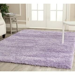 Safavieh California Cozy Solid Lilac Shag Rug (6'7 Square)