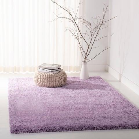 """Safavieh California Cozy Plush Lilac Shag Rug - 6'7"""" x 6'7"""" Square"""