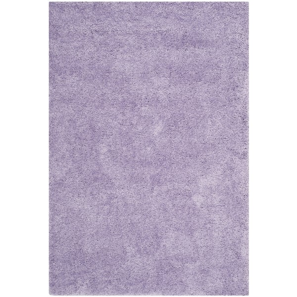 safavieh california cozy plush lilac shag rug 6u00277 square free shipping today